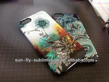 2014 newest 3D paper sublimation Phone case/ Plastic mobile cover/ 3D heat press clear phone case