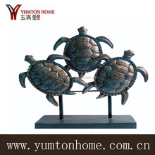 Metal three sets tortoise family for home decor