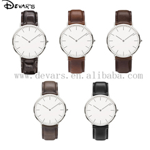 2015 most popular simple leather watch,custom made watches, custom design watches