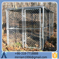 High quality cheap wrought iron galvanized large outdoor folding dog cages/kennels