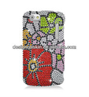 flower case covers for Alcatel one touch 960C ultra bling pearl diamond case