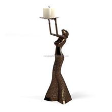 Unique home decor candle holder sex resin nude women