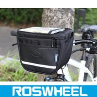 ROSWHEEL texture series bicycle handlebar bag with mobile phone bag 11811