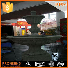 2014 PFM hot sale natural beautiful hand carved water curtain gardening outdoor wall fountain waterfalls