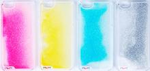 Popular sale transparent fluorescence Noctilucent Luminous Quicksand Hard Case PC Cover for iPhone 5/6/6 Plus