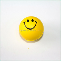 High Up Bouncing EVA Ball With Customized Logo Promotion Toys Ball Smile Face Ball