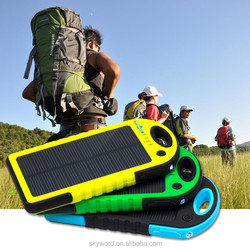 Private Label Portable Waterproof Cell Phone Solar Charger With Carabiner