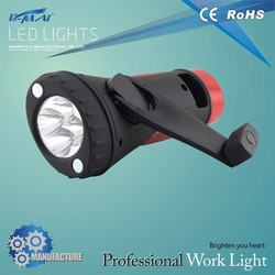 Chinese supplier 2015 built-in ABS & rubber 4+8 light hand lamp with hand crank