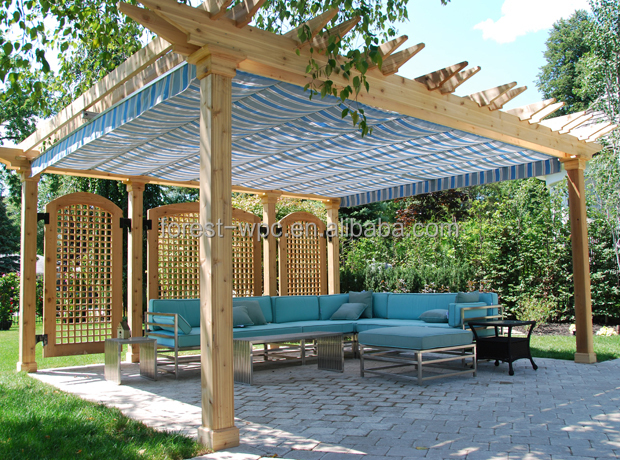Style chinois gazebo en bois pergola gazebo kiosque en for French style gazebo