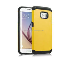 Low price china mobile phone Hard&Soft Rubber Hybrid Armor Impact Defender Skin for samsung galaxy s6 tough armor case wholesale