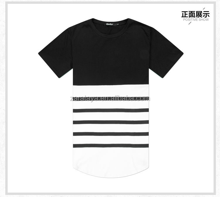 Cotton bamboo fiber material extend long line street for Bamboo fiber t shirt