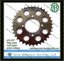36T-Teeth 428 Chain Size Rear Steel Sprocket