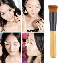 FLAT ANGLED WOODEN Buffer Liquid Foundation/Powder/Contour/Bronzer Makeup Brush