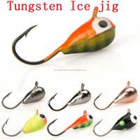 Wholesale tear drop tungsten ice fishing jigs