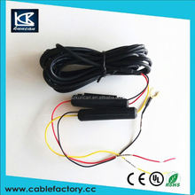 New products on china market dc car charger with cable 12 v power extension cable for cable tv black box