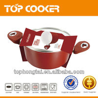Aluminium Forged Ceramic Casserole With Glass lid