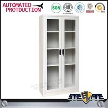 Glass swing door perfect sealed dustproof modern bookcase