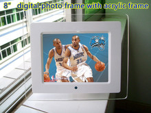 Factory Brand new EXW price 800x600 High resolution digital photo frame with sd usb