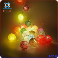 Cheap price hot selling in Amazon LED flashing 6cm diameter cotton ball string light for Christmas, party, home decoration