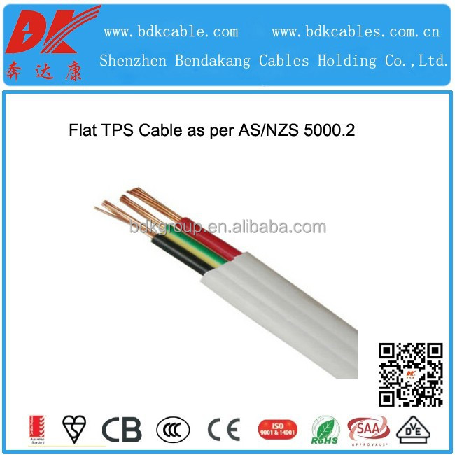 Flat Tps Cable : White flat tps twin with earth cable as nzs standard