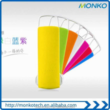 New Products Colorful Portable Slim Mini powerbank Buile-in Data Line For Mobile Phone