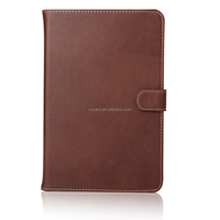 Luxury Genuine leather grain case with 2 card slots for iPad Mini 4