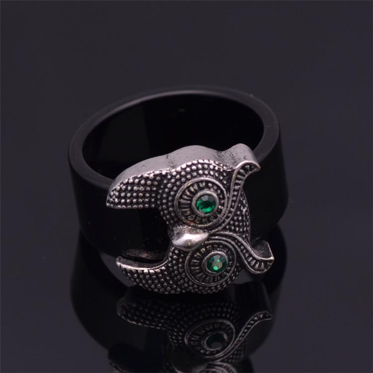 кольца серебро моды золото милая сова & серебро 2 выбора цвета старинные ювелирные изделия вольфрама кольцо для женщин