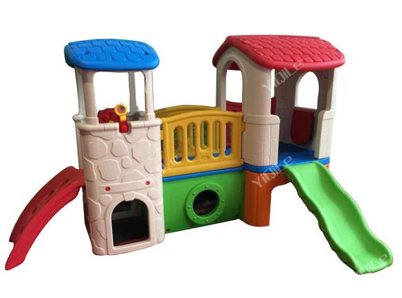 populaire vente en plastique maison de jeu avec toboggan autres jouets loisirs id de produit. Black Bedroom Furniture Sets. Home Design Ideas