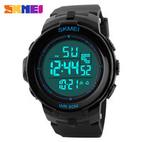 Professional plastic materials fitness sport large dial cheap wholesale digital watch