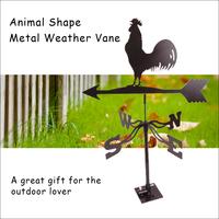 (564) Garden Roof Decorative Metal Iron Black Matt Rooster Weather Vane