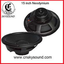 Aluminum 15 inch 500 watt PA Passive Neodymium woofer audio speaker in guangzhou