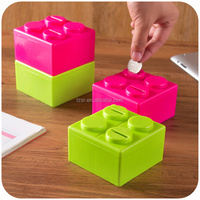 2015 fancy toy free combination plastic square money box coin bank piggy bank saving box