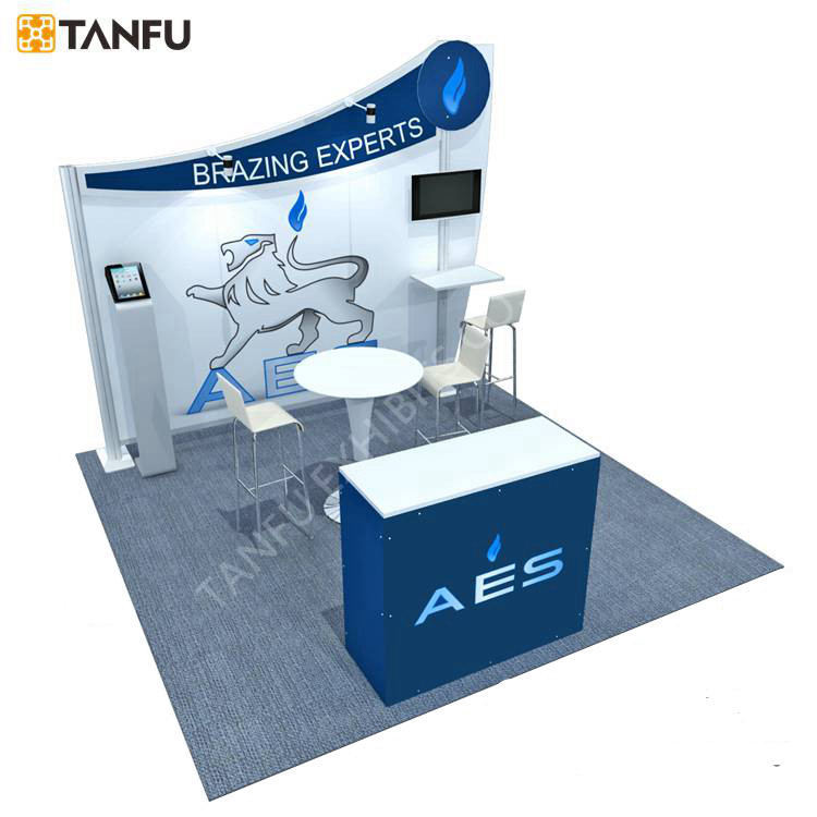 TANFU 10x10 Or 10x20 Variable Layout Portable Exhibition Booth With TV Stand View
