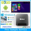 Latest K8II android tv hdmi stick ethernet Atom Z3735F 2g 32g WiFi Set Top Box