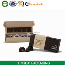 custom kraft chocolate packaging box for gift