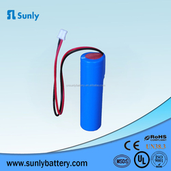Rechargeable 18650 3.7v 1500mAh Li-Ion battery for flashlight with pcb
