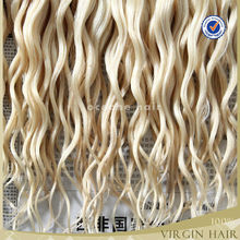 Hot new products hot beauty african american white natural blonde curly human hair extensions