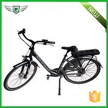 China 7 speed dutch city electric bicycle with rear carrier