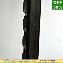 Exportador de china negro/cerca granja galvanizado poste de metal