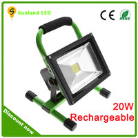 CE ROHS Certification Portable Battery Powered LED Work Light 12V 24V IP65 Outdoor 10w 20w Rechargeable LED Flood Light