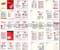 photo paper Embossed brochure for hair accessories Customized for Professional printing factory