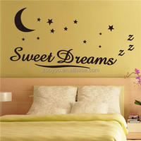 zooyoo8245vinyl Removable bedroom wall sticker home decor most popular products reusable sticker sweet dreams wall sticker