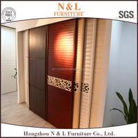 2015 New Design Leather Material Modern Wooden Wardrobe plywood wardrobe design