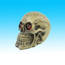 2015Hotsale demon skull head Resin halloween skull with led light