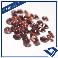 Natural RED GARNET round cut faceted gemstone