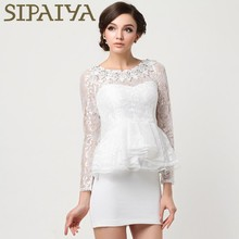 Spring long sleeve lace design elegant office one piece lady fashion dress