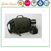 Canvas SLR Camera Bag, DSLRs, 1 Machine 2 Lens, Waterproof Shockproof