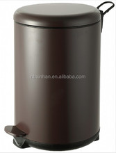 European Standard Bathroom 3Lstainless Steel Coating Step-on Trash Can With Top Finishing