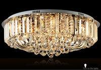 Luxury modern round crystal ceiling light with crystal ball