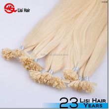 Good Feedback Tangle Free Factory Wholesale Price High Quality russian u nail tip hair extention